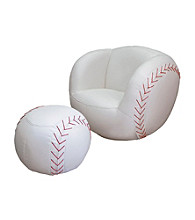 Ore International™ Baseball Chair & Ottoman set