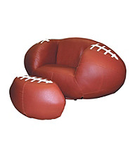 Ore International™ Football Chair & Ottoman Set