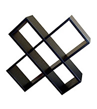 Ore International™ Black Crisscross Media Wall Storage