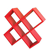 Ore International™ Red Crisscross Media Wall Storage