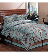 Bella Floral 4-pc. Comforter Set by Home Fashions International