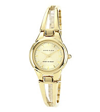 Anne Klein® Women's Goldtone Bangle Bracelet Watch