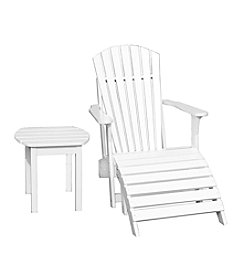 International Concepts Adirondack Chair, Footrest & Side Table Collection