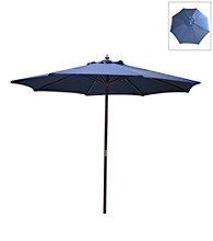 International Concepts 9' Navy Market Umbrella