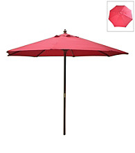 International Concepts 9' Autumn Red Market Umbrella