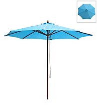 International Concepts 9' Mountain Blue Market Umbrella