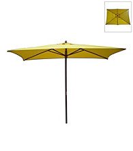 International Concepts Rectangular Yellow Market Umbrella