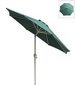 International Concepts 9' Adjustable Tilt Hunter Green Market Umbrella