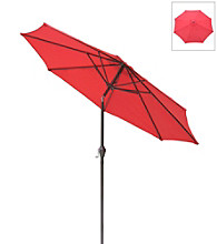 International Concepts 9' Adjustable Tilt Autumn Red Market Umbrella