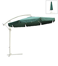 International Concepts 10' Offset Hunter Green Market Umbrella