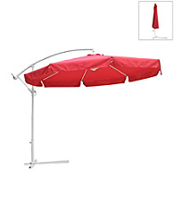International Concepts 10' Offset Autumn Red Market Umbrella