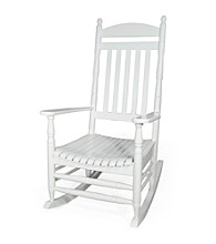 International Concepts White Traditional Porch Rocker