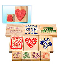 Trademark Games™ 10-pc. Wood-Mounted Rubber Stamp Set