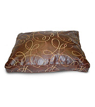 Home Fashions International Faux Leather Swirl Dog Bed