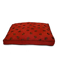 Home Fashions International Ultima Suede Paw Print Dog Bed