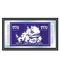 Trademark Games™ Texas Christian University Logo and Mascot Framed Mirror