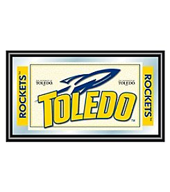 NCAA® University of Toledo Logo and Mascot Framed Mirror