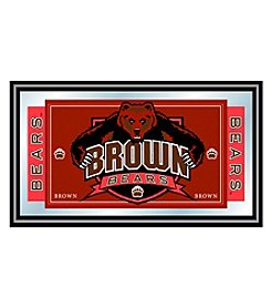 NCAA® Brown University Logo and Mascot Framed Mirror