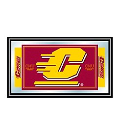 NCAA® Central Michigan University Logo and Mascot Framed Mirror