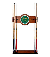 Trademark Games™ Colorado State University Wood and Mirror Wall Cue Rack