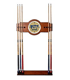NCAA® University of Pittsburgh Wood and Mirror Wall Cue Rack