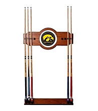 Trademark Games™ University of Iowa Wood and Mirror Wall Cue Rack