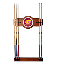 Trademark Games™ Central Michigan University Wood and Mirror Wall Cue Rack