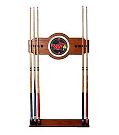 NCAA® Illinois State University Wood and Mirror Wall Cue Rack