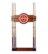 Trademark Games™ Iowa State University Wood and Mirror Wall Cue Rack