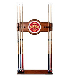 NCAA® Iowa State University Wood and Mirror Wall Cue Rack