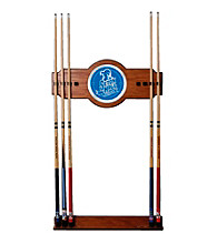 Trademark Games™ Seton Hall University Wood and Mirror Wall Cue Rack