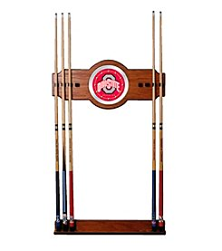 NCAA® Ohio State University Wood and Mirror Wall Cue Rack