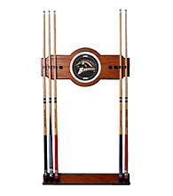 Trademark Games™ Western Michigan University Wood and Mirror Wall Cue Rack
