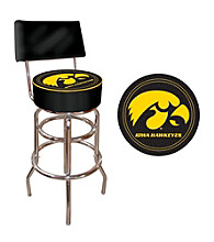 Trademark Games™ University of Iowa Padded Bar Stool with Back