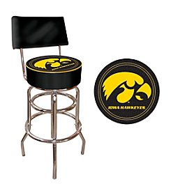 NCAA® University of Iowa Padded Bar Stool with Back