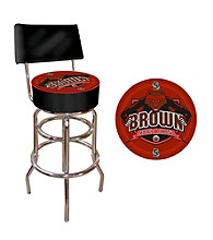 Trademark Games™ Brown University Padded Bar Stool with Back