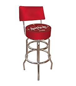 NCAA® Mississippi State University Padded Bar Stool with Back