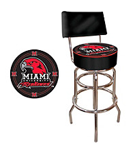 Trademark Games™ Miami University Ohio Padded Bar Stool with Back