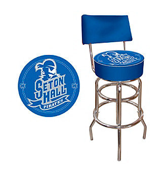 Trademark Games™ Seton Hall University Padded Bar Stool with Back