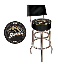 Trademark Games™ Western Michigan University Padded Bar Stool with Back