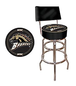 NCAA® Western Michigan University Padded Bar Stool with Back