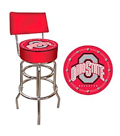 Trademark Global NCAA® Ohio State Buckeyes Padded Bar Stool with Back