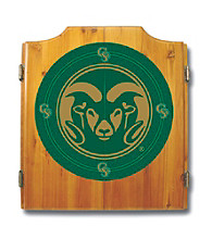 Trademark Games™ Colorado State University Dart Cabinet - !ncludes Darts and Board