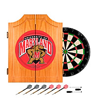 Trademark Games™ Maryland University Dart Cabinet - !ncludes Darts and Board