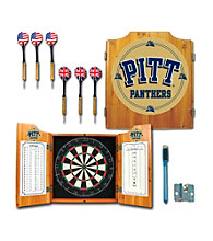 Trademark Games™ University of Pittsburgh Dart Cabinet with Darts and Board