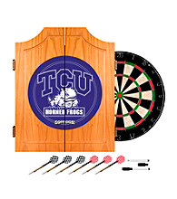 Trademark Games™ Texas Christian University Dart Cabinet with Darts and Board