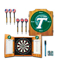 Trademark Games™ Tulane University Dart Cabinet with Darts and Board