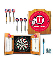 Trademark Games™ University of Utah Dart Cabinet with Darts and Board