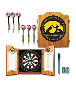NCAA® University of Iowa Dart Cabinet with Darts and Board