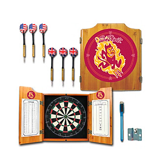Trademark Games™ Arizona State University Dart Cabinet with Darts and Board